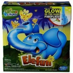 Hra elefun s fosforeskujícími motýlky