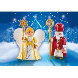 Mikuláš s andělem