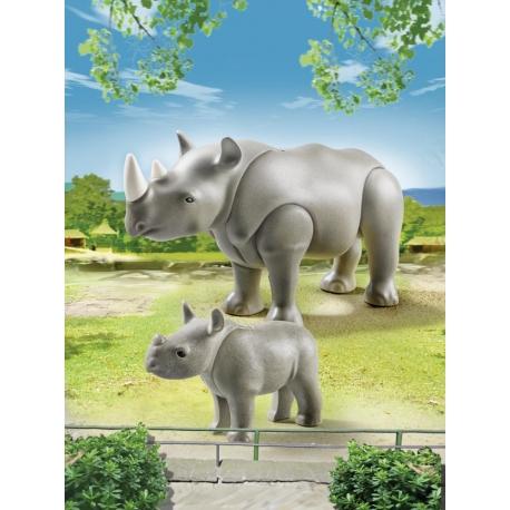 Nosorožec s mládětem