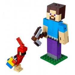 LEGO21148 Minecraft velká figurka: Steve s papouškem